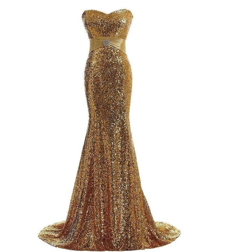 Chérie paillettes or sirène robes de soirée longueur de plancher grande taille argent brillant femmes robes de bal festkjole