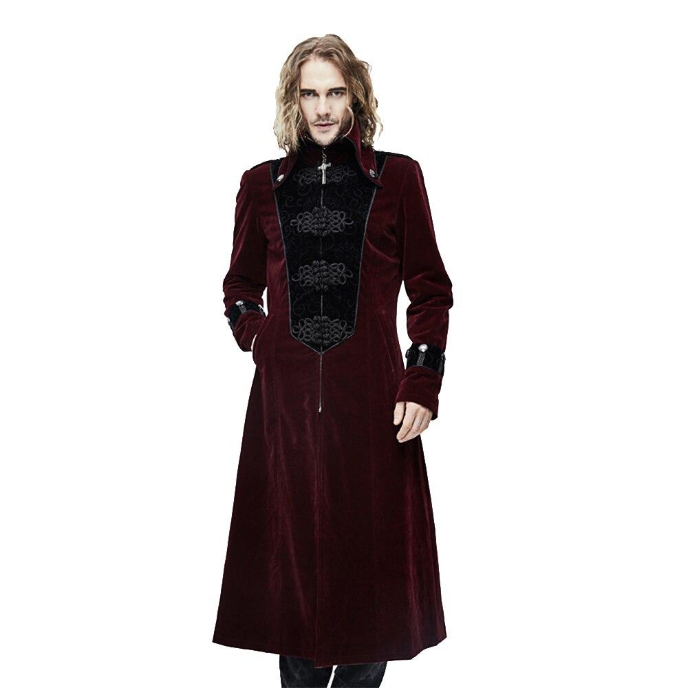 Steampunk Gothic Uomini Lungo Inverno Cappotti del Rivestimento Dolcevita  Cappotto di Spessore Sottile Costume Rinascimentale in Steampunk Gothic  Uomini ... afed0f45e74