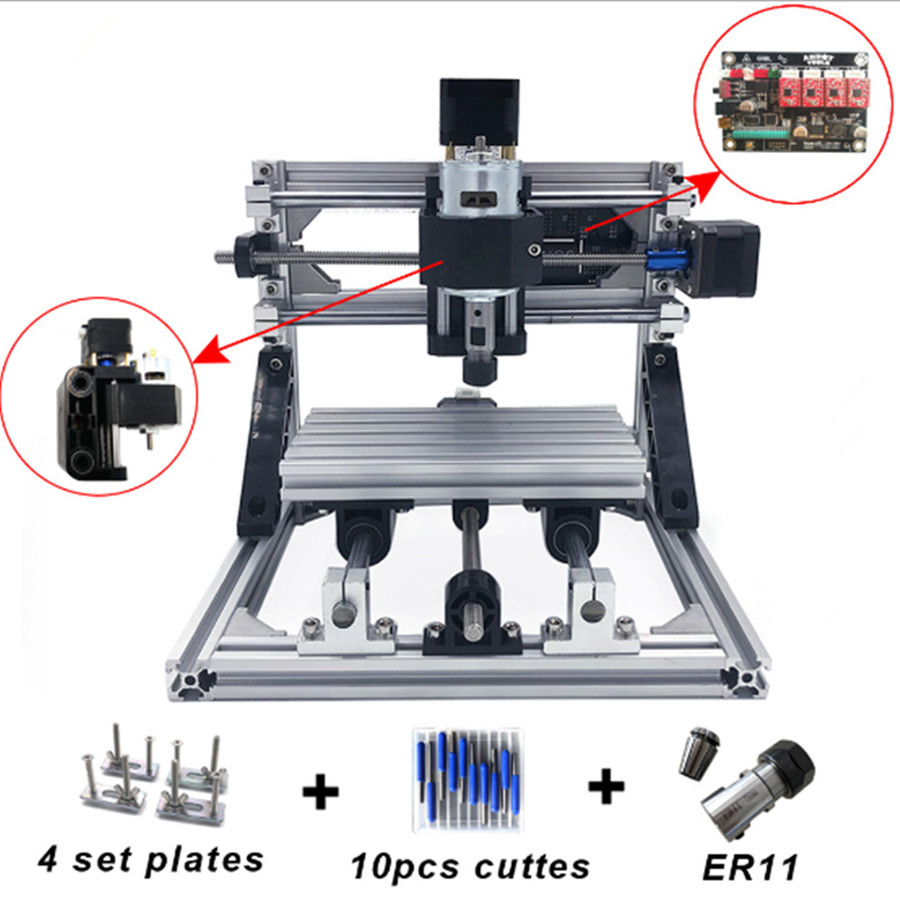 CNC 1610 With ER11 Mini DIY CNC Laser Engraving Machine Pcb Milling Machine Wood Carving Router  Best Advanced Toys