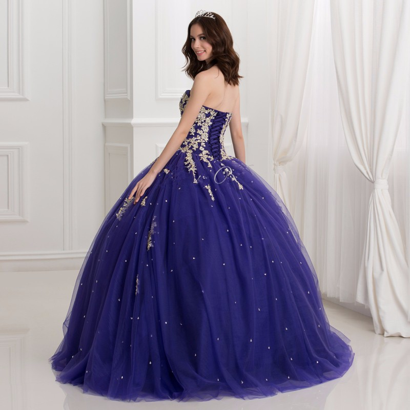 Dark-Royal-Blue-Ball-Gown-Quinceanera-Dresses-With-Gold-Lace-Applique-2016-Puffy-Sweet-16-Dress (2)