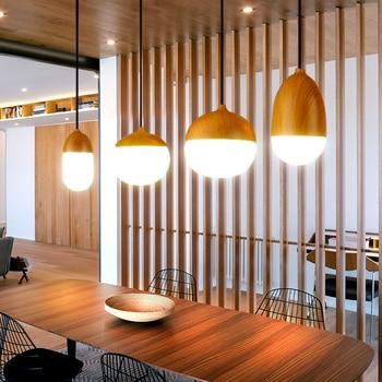 Modern Glass Wooden Pendant Lights Globe Round Pendant Lamp Living Dinning Room Kitchens Fixture Hanging Lighting luminaire