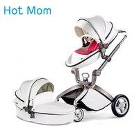 Hotmom детская коляска Эко кожа 2 в 1 легкий вес четыре амортизаторы России бесплатная доставка