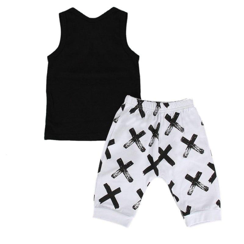 Классные футболки для новорожденных маленьких мальчиков футболка-жилет без рукавов с надписью «I do what I want» короткие штаны комплект из 2 пред...