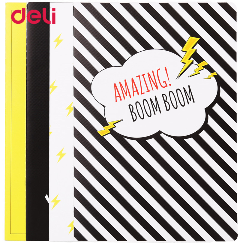 Deli Striped Notebook 1Pc 2017 Vintage Office stationery Diary Planner Notepad copybook daily memos For School Student Writing a5 secret diary book restoring vintage notepad high end notebook notebook agenda journal school office student stationery supply