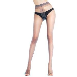 Image 2 - BONAS Thiết Kế Thương Hiệu Mở Toe T Đáy Quần 15D Nylon Quần Phụ Nữ Thời Trang Spandex Co Giãn Pantyhose Transparent Nữ