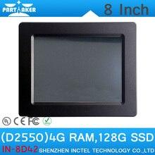"""4 Г ОЗУ 128 Г SSD OEM Intel Atom D2550 8 """"все В Одном Мини-Промышленной PC Сенсорный Экран Встроенный Tablet PC"""