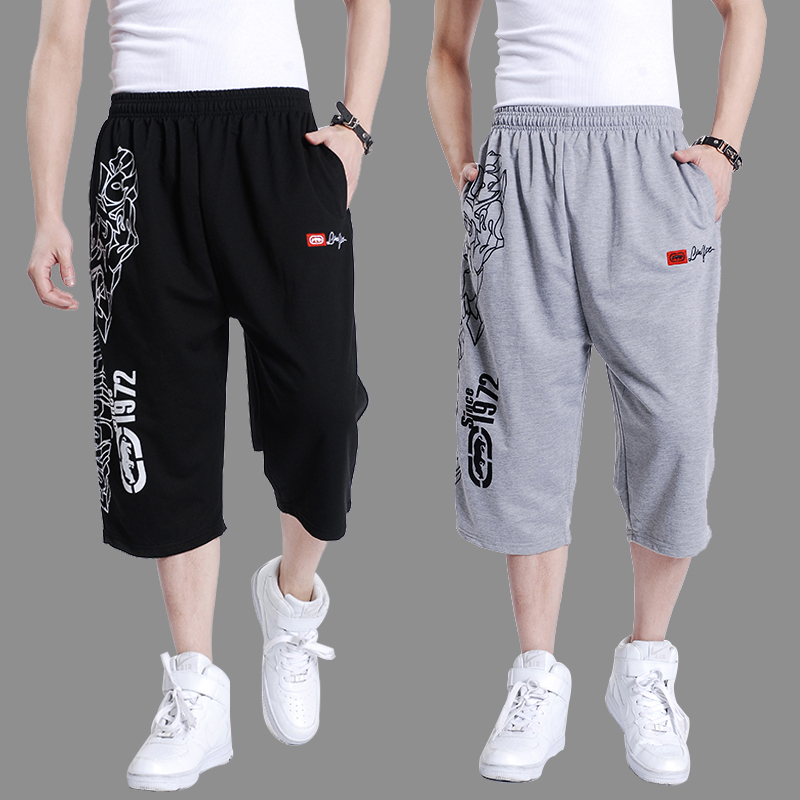 Summer Mens Multi Pocket Casual Cargo Shorts Men Cotton Loose Short Mens Calf-Length hip ...