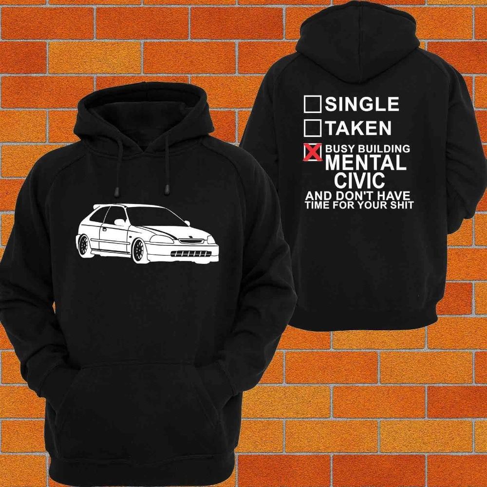 I love my Honda Civic EK Style 1 Logo Hoody Hoodie Hooded Top