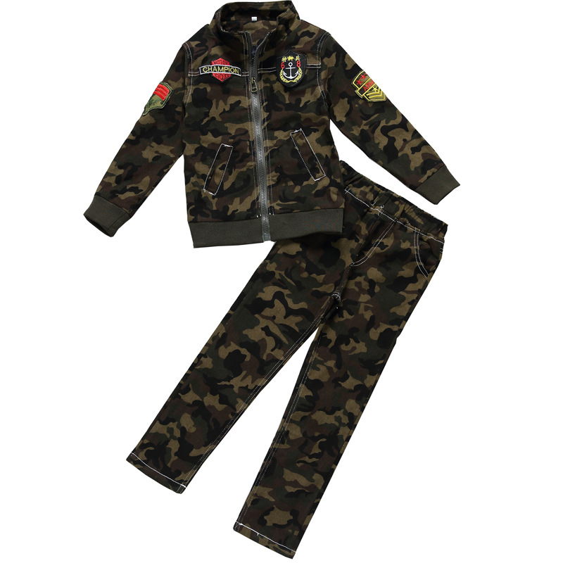 2018 Spring Kids Clothes Children 2 Pcs Set Baby Uniform Boys Girls Suit Infantis Camouflage Clothing Top+pant Enfant Costume kids spring formal clothes set children boys three piece suit cool pant vest coat performance wear western style
