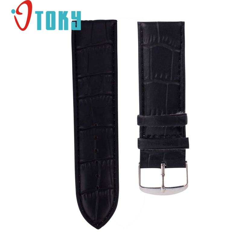 Excellent Quality 14mm Durable One Sweatband Watch Men Faux Leather Strap Watchband Steel Buckle Wrist Women Watches Bands