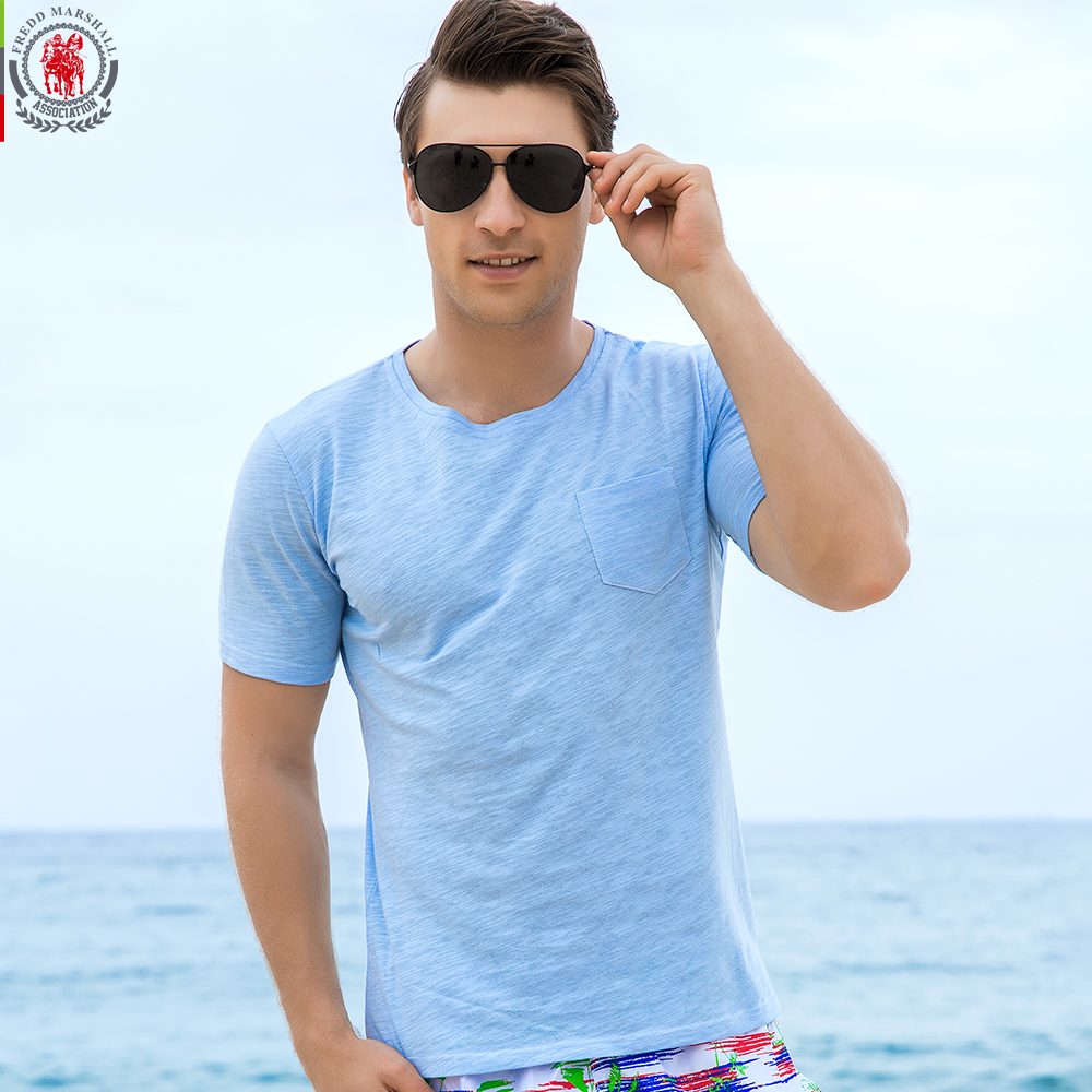 FREDD MARSHALL New Arrival 2017 Summer Short Sleeve T Shirts Men Solid Color 100% Pure Cotton Casual Mens O Neck Tops Tees FM704-in T-Shirts from Men's Clothing on AliExpress - 11.11_Double 11_Singles' Day 1