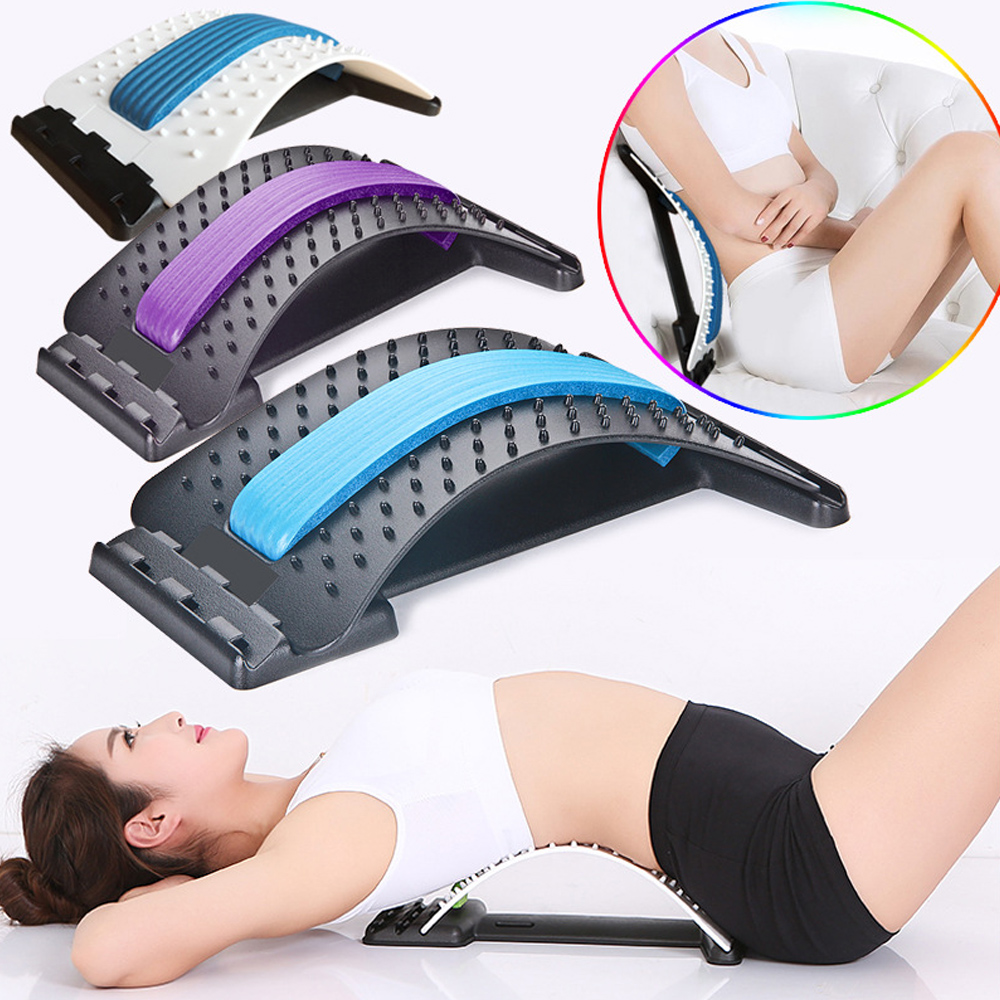 Estiramiento equipo masajeador Magic Stretcher Fitness apoyo Lumbar relajación Mate espinal dolor quiropráctico mensaje