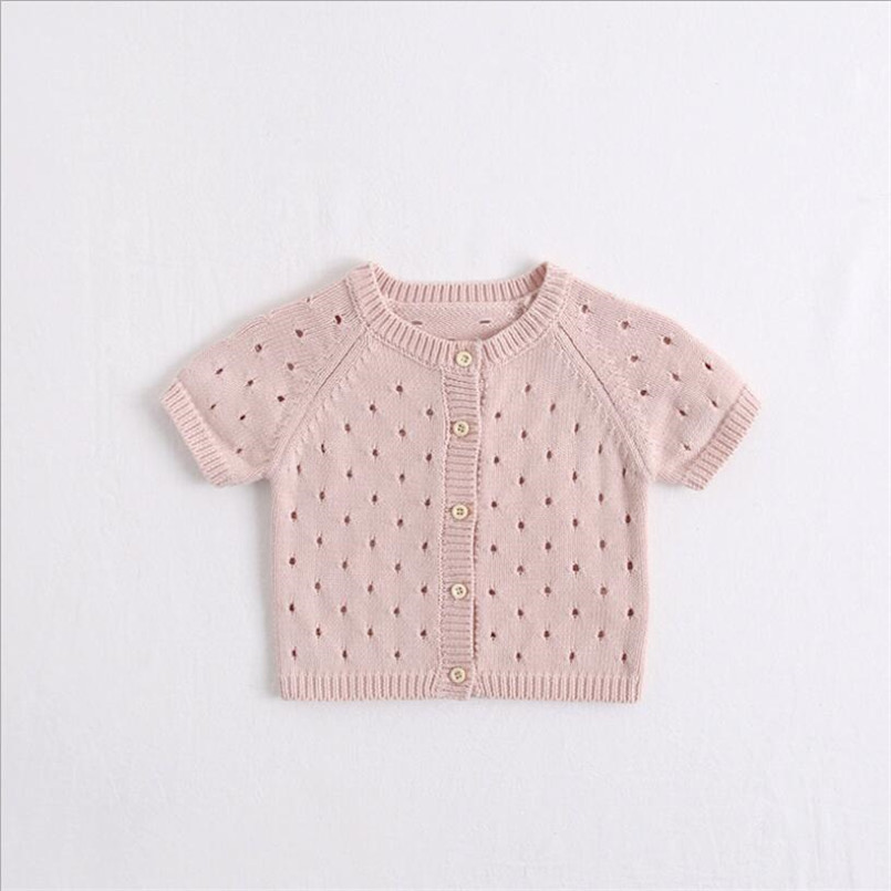 Short-Sleeve Jacket Baby-Coat Newborn Outwear Knitted Girls Summer Soft for Kids Tops