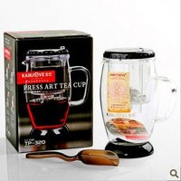 Wholesale Kamjove TP 320 Glass Tea Pot Cha Dao Press Art Tea Cup 300ML FREE SHIPPING