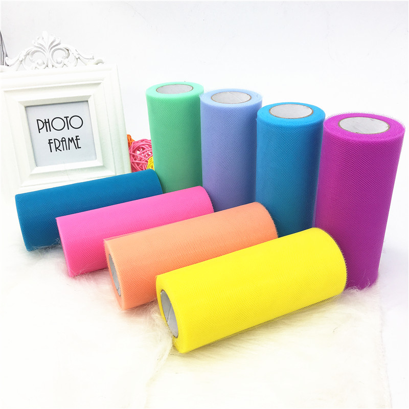 15cm 25yards Tulle Roll Party Birthday Wedding Decoration Spool Tutu Gift Wrap DIY Baby Shirt Event Supplies Baby Shower
