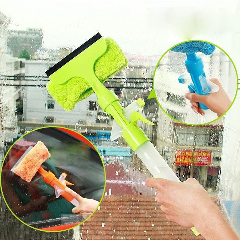 Spray Type Cleaning Brush Wiper Car Window Cleaner Wizard Washing Tool Cleaning Airbrush
