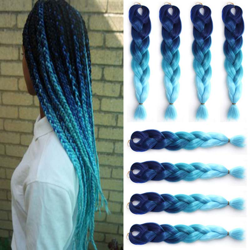 Popular Blue Kanekalon Hair Buy Cheap Blue Kanekalon Hair Lots From China Blue