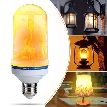 Bombilla LED con forma de llama E27 E14 B22 E26 E12 220V 110V 6W 4 modos de 1400K cálido blanco SMD 2835 LED con efecto de llama bombilla de luz para jardín decoración