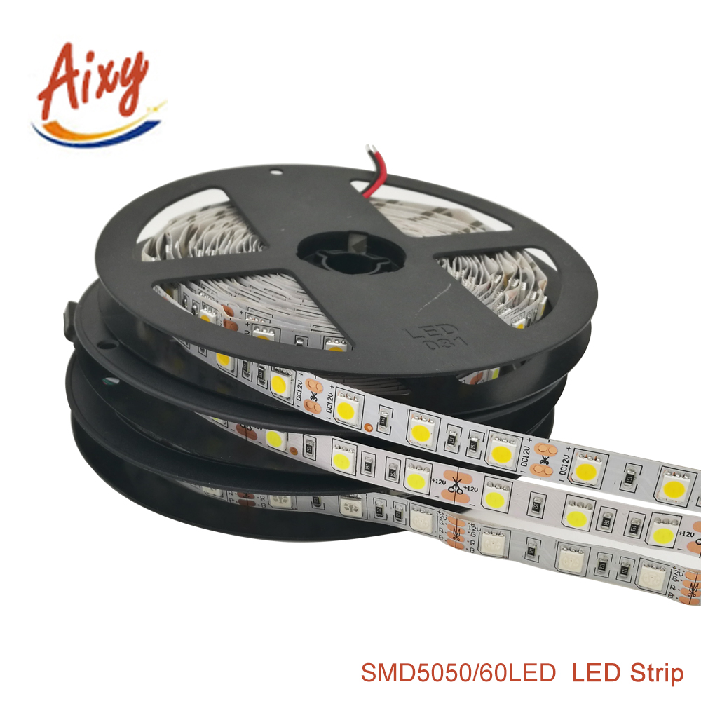 Outdoor 12 Volt 60leds Meter Led Strip Smd 5050 Rgb: LED Strip 5050 DC12V 60LEDs/m 5m/lot Flexible LED Light