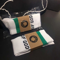 FEAR OF GOD 1987 Celts Collection Men Sock Italian Pop Up Store Cotton Green Striped Male