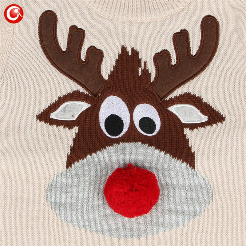1-5y 2016 AutumnWinter Fashion Toddler Kids Girls Deer Sweater Long Sleeve Crochet Knitted Top For Christmas Kids Boys Cardigan (9)