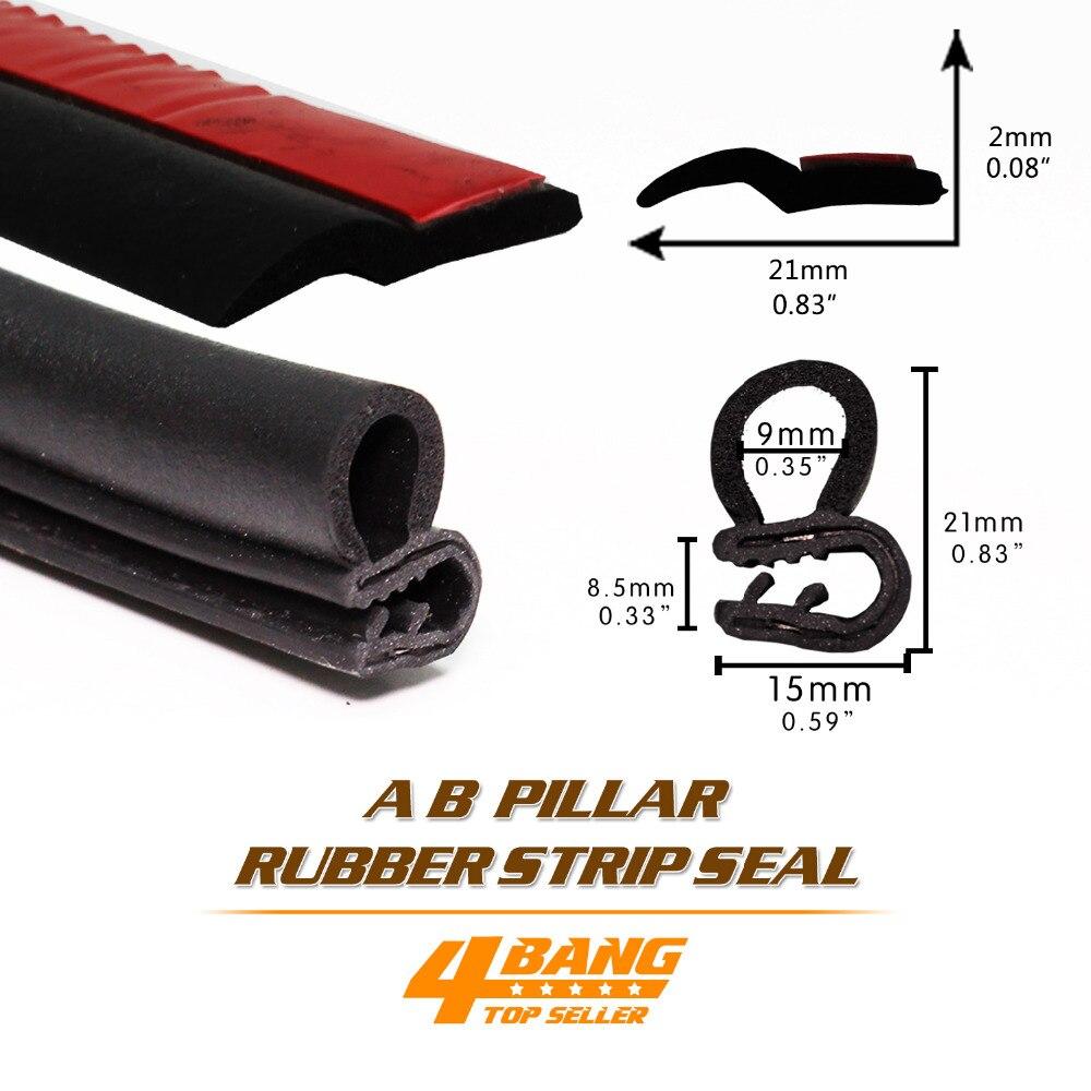 A B Pillar Kit Both-Side For Lada/Hyundai/Kia/Gaz/VW/Renault/Toyota/Nissan/Skoda Trim Rubber Sound Insulation Sedan Hatch Back