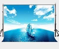150x220cm Sailing Ship Backdrop Navy Blue background Quiet Mood Background Studio Props