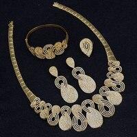 Bridetalk Newest Luxury Sparking Brilliant Cubic Zircon Clear Necklace Earrings Wedding Bridal Jewelry Sets Dress Accessories