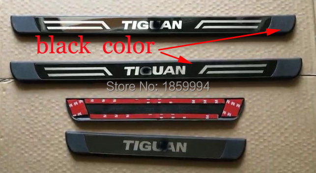 for 2017 2018 VW Tiguan mk2 car scuff plate door sill exterior trim welcome pedal стоимость