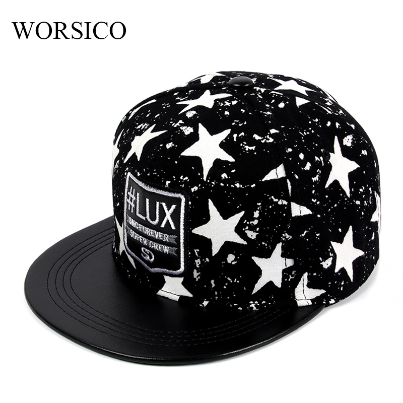 [WORSICO] 2017 Brand Black Baseball Cap Men Hip Hop Snapback Caps Women Summer Adjustable Hats For Men Women Gorras Bone Flat new fashion floral adjustable women cowboy denim baseball cap jean summer hat female adult girls hip hop caps snapback bone hats