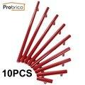 Probrico 10 pcs aço inoxidável vermelho diâmetro 12mm centro do furo de 50mm ~ 256mm armário de cozinha maçaneta da porta móveis puxador de gaveta puxar