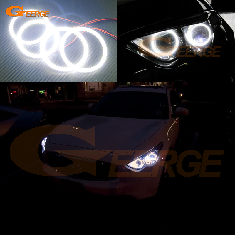 For Infiniti QX70 FX35 FX37 FX50 2009-2017 Excellent led angel eyes Ultra bright illumination smd led Angel Eyes Halo Ring kit ковры seintex infiniti fx 37 50 qx70 2008 468