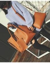 3-in-1 designer Brand Leather bolsas femininas Women bag ladies Pattern Handbag Shoulder Bag Female Tote Sac Crocodile Bag