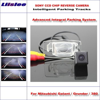 Liislee Backup Reverse Rear Camera For Mitsubishi Galant / Grunder / 380 / HD 860 * 576 Pixels Intelligent Parking Tracks