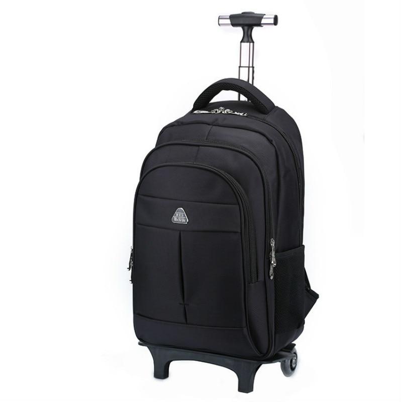 BERAGHINI Men s Bag for Business Trip Pull Rod Bags Large Capacity Wheel Backpack Travel Duffle