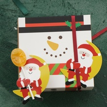 new 25pcs lollipop cover Christmas Santa on moon design candy decorate holiday Christmas gift packaging цена