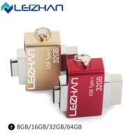LEIZHAN Type C 3 0 USB Flash Drive 32GB Metal Dual Mobile Phone OTG Pen Drive