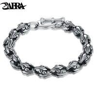 ZABRA Thai zilver 925 zilveren mannen armband De jongen hand bovenleiding tij herstellen oude manieren mannelijke handelen de rol is geproefd punk