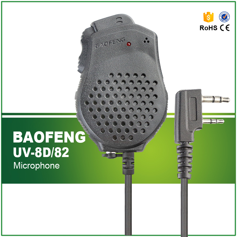 Original Portable Baofeng Speaker Mic Microphone Dual PTT for Two Way Radio UV 82 UV 82Plus