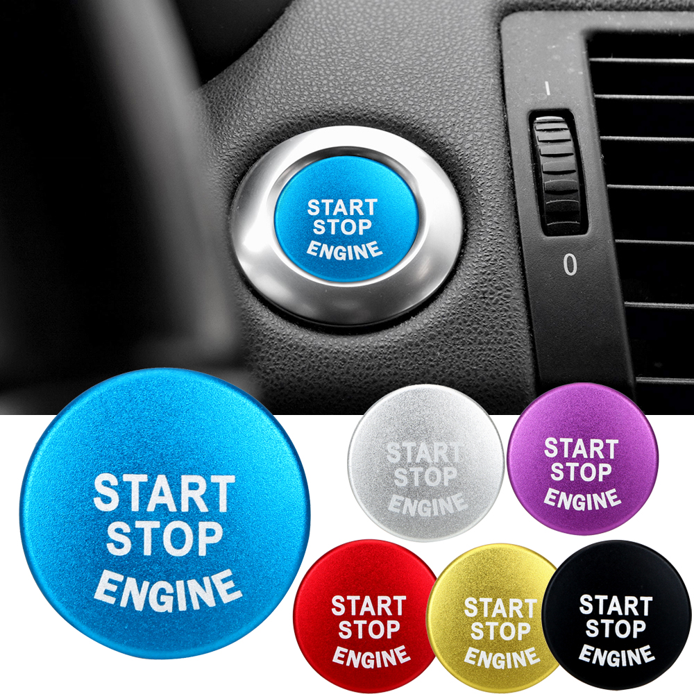 Car START Engine Button STOP Key Accessories Replace Cover Switch Decoration Car Stickers For BMW Interior Accessories luminous ignition switch cover key aluminum alloy switch decoration ring motorcycle car styling interior accessories promotion