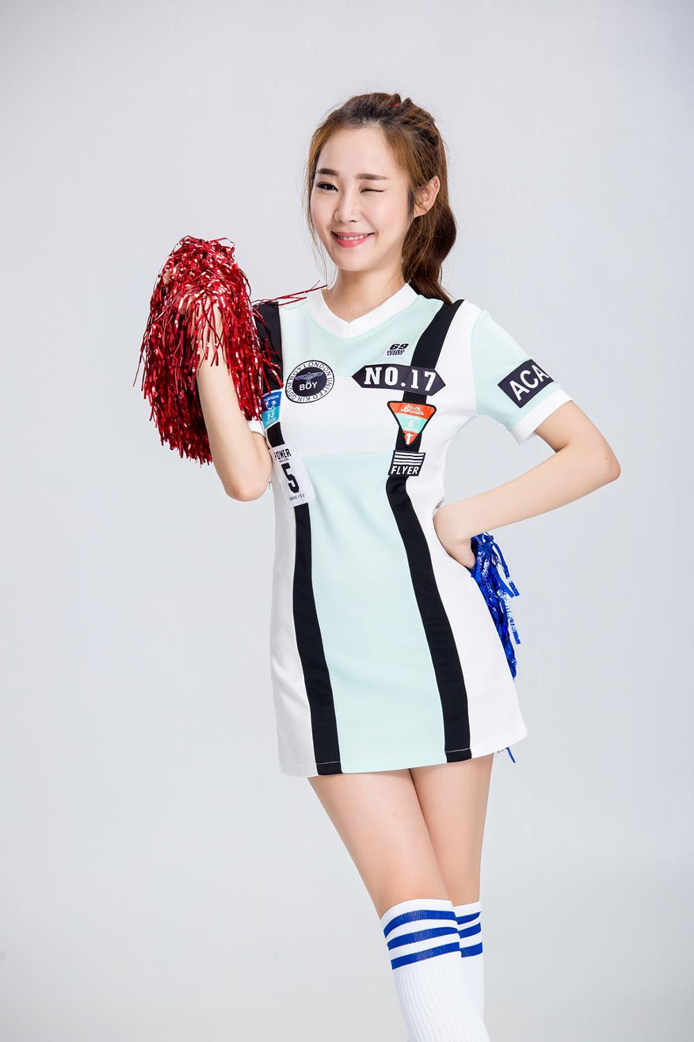 Sexy Woman Racer Uniform High School Girl Cheerleader Costume Nightclub DS Fancy Dresses