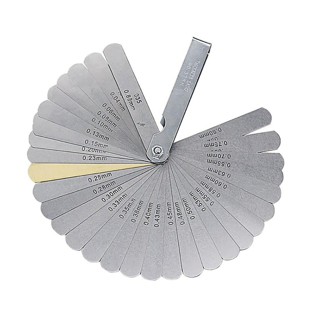 32 шт. лезвия универсальный набор датчиков толщины метрический Guage нержавеющая сталь измерительный инструмент Высокая точность зазор измерительный инструмент