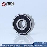 5209 2RS Bearing 45 x 85 x 30.2 mm ( 1 PC ) Axial Double Row Angular Contact 5209RS 3209 2RS 3056209 Ball Bearings