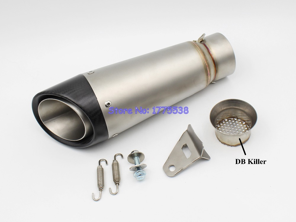 Customized ID:51mm/54mm/57mm/61mm/63mm/65mm Titanium Alloy Motorcycle Exhaust Muffler Pipe Escape Damper Motorbike Muffler Pipe