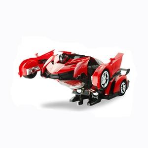 Image 4 - 2In1 RC Voiture De Sport De Voiture Transformation Robots Modèles Télécommande Déformation De Voiture RC combats jouet Cadeau Danniversaire de KidsChildren