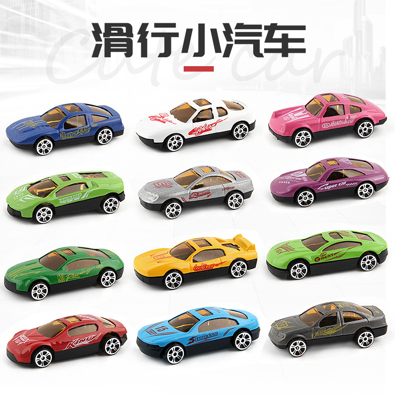 12 pcs/set High simulation wagon retro vintage car muscle car alloy pull back car toys collection model image
