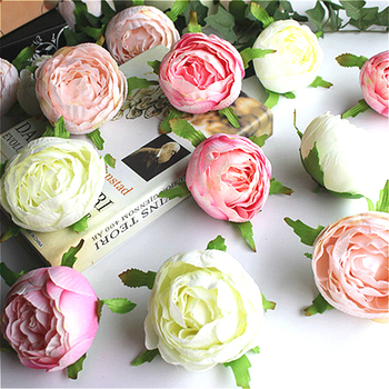 10pcs Artificial Silk Rose Tea Rose Wedding DIY Home Flower Wall Arch Flower Party Holiday Ornament Illustration Arch Background rose
