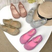 Mini Melissa Campana Crystal Shoes New Children Mesh Hole Shoes Girl Jelly Sandals Kids Sandals Children Beach Shoes Non slip