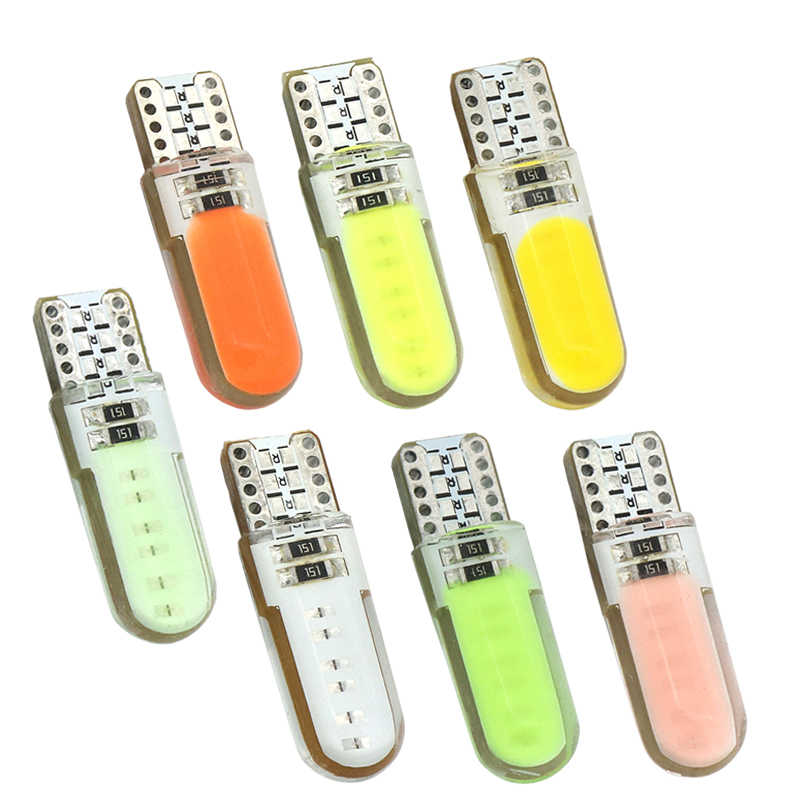 2 adet T10 W5W LED araba iç ışık COB işaretleyici lamba 12V 168 194 501 yan kama park ampul canbus oto lada için araba styling