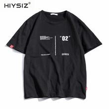 HIYSIZ 2019 Summer Harajuku MeN t shirt Hip Hop tshirt Short Sleeve fashion Cotton Ship Cartoon Streetwear T-shirts ST512